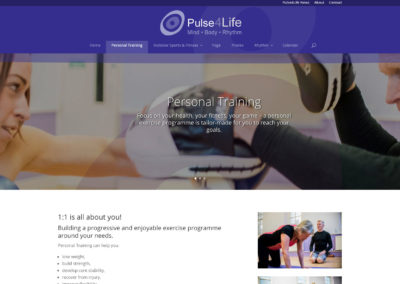 Pulse4Life Personal Training page
