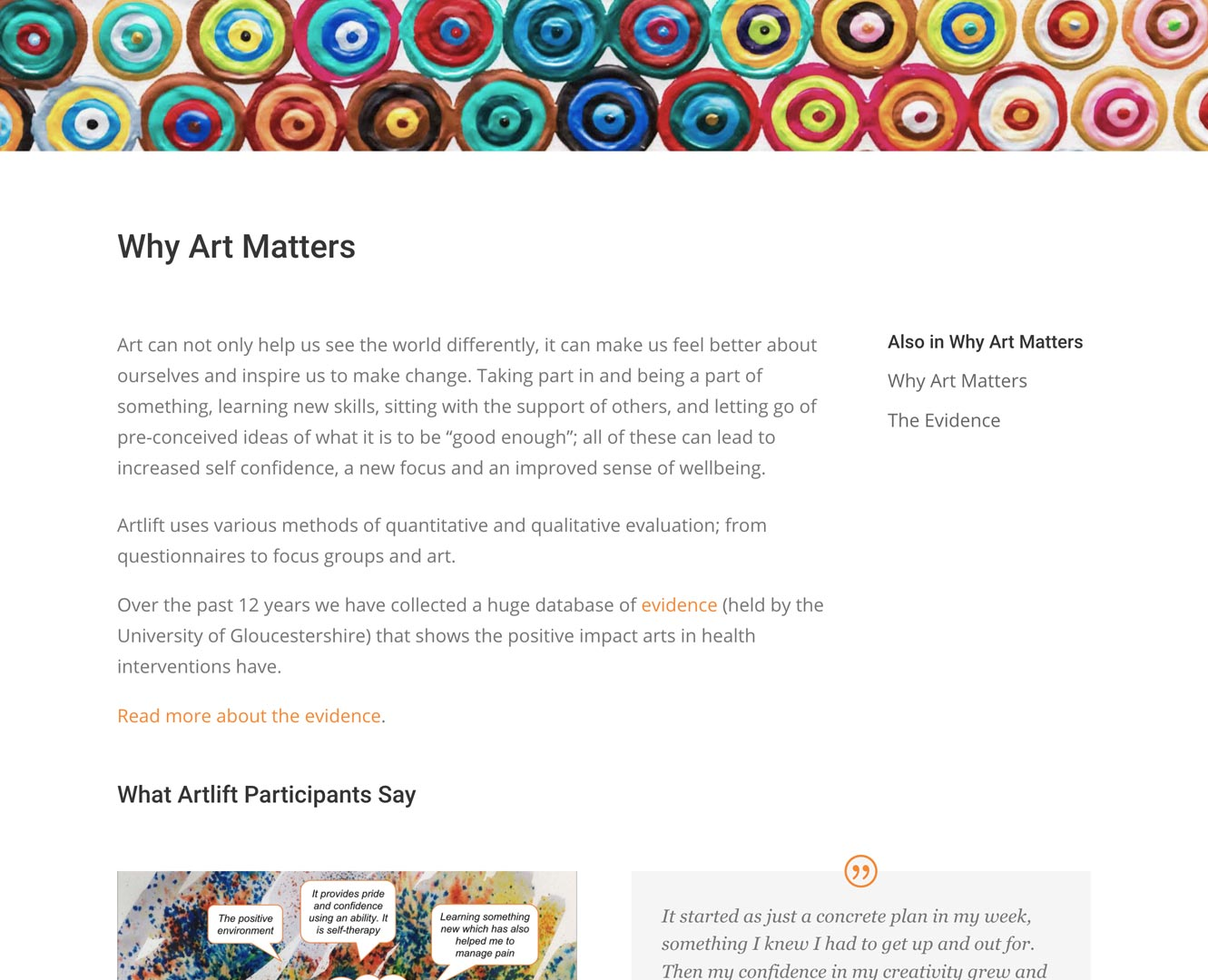 Artlift content page screenshot